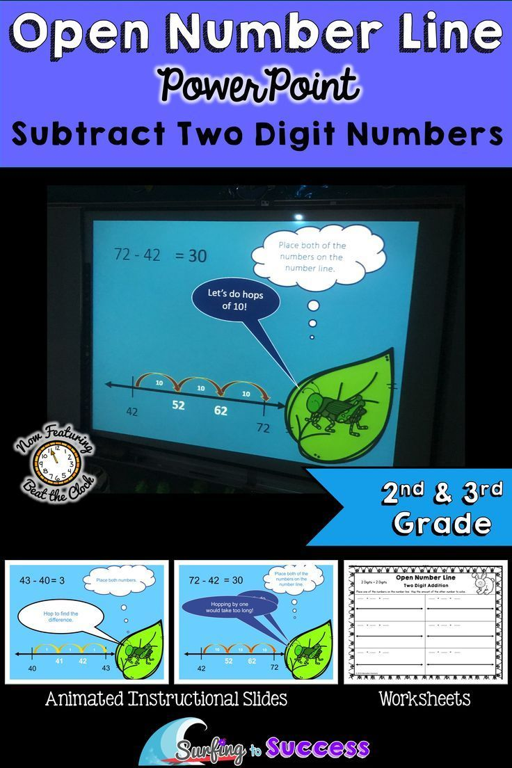 Teach your students to subtract two digit numbers on an open number ...