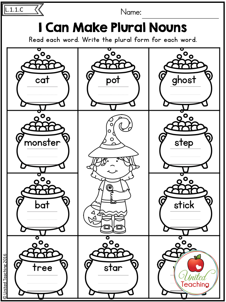 Halloween 1st Grade No Prep Language Arts Worksheets