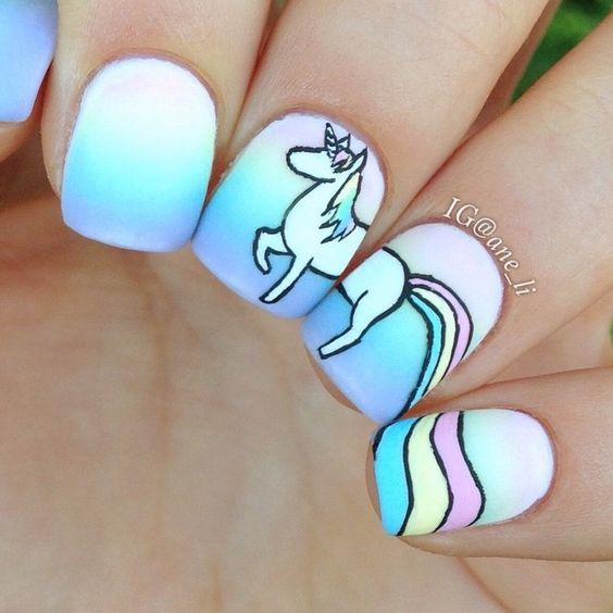unhas unicornio | uñas | Pinterest | Manicure, Unicorn nails and Makeup