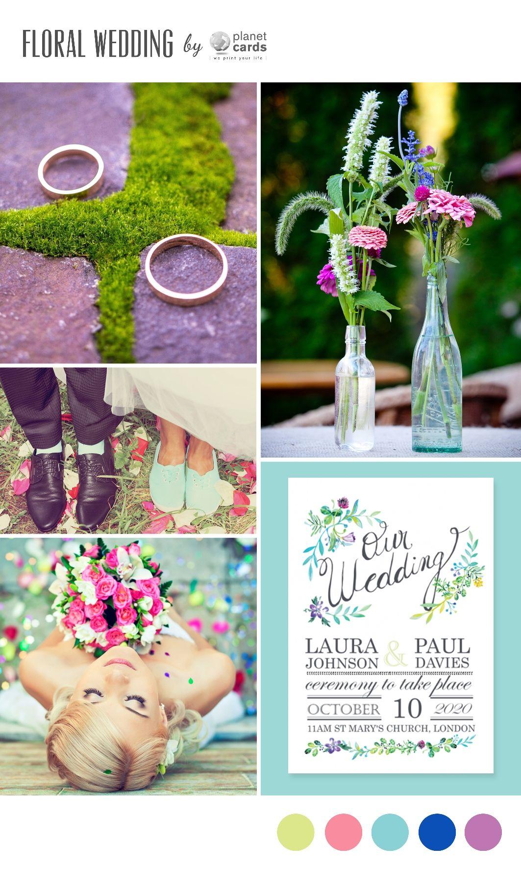 Individuelle Einladungskarten mit Moodboards für eure Dekoration von Planet Cards | Hochzeitsblog - The Little Wedding Corner