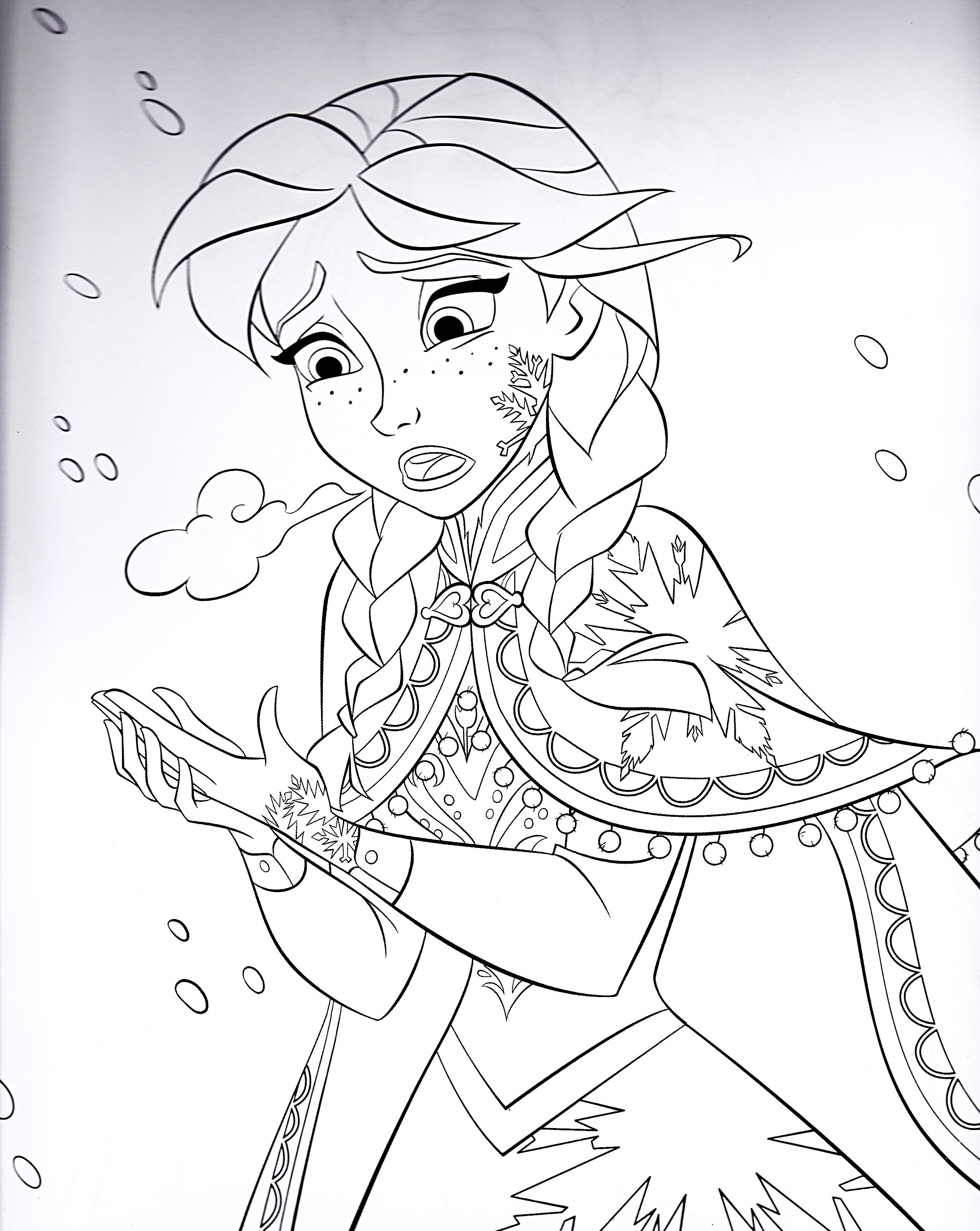 Frozen coloring pages and activities - Book Frozen Anna Colouring Pages