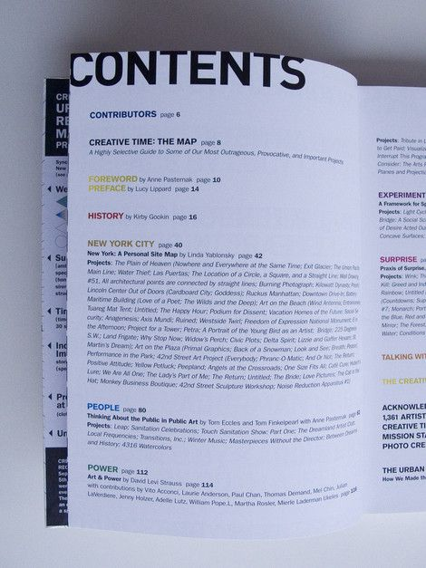Table Of Contents Creative Examples  Content And Book Layouts