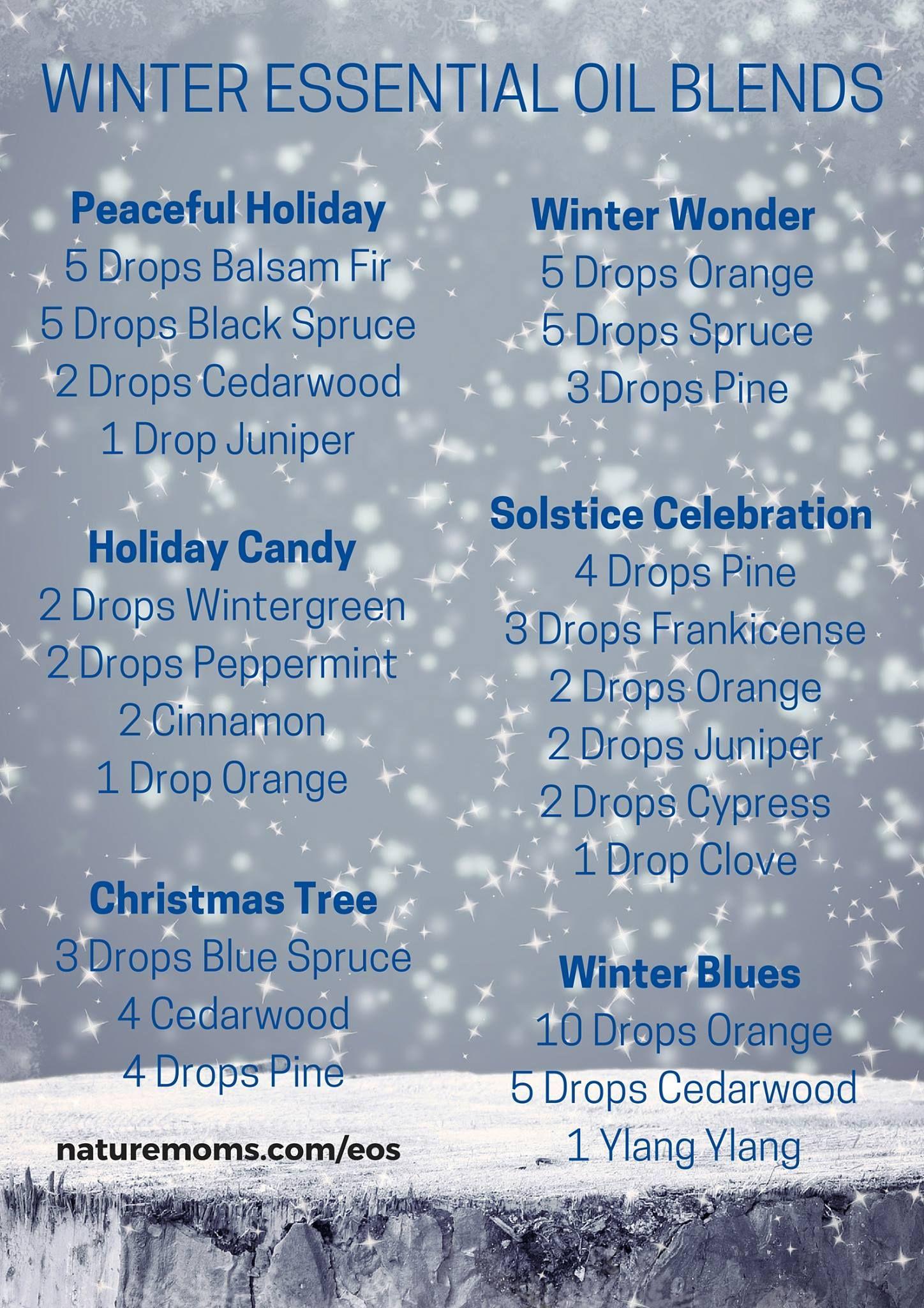 Winter Essential Oil Blends Holistic Info Essential