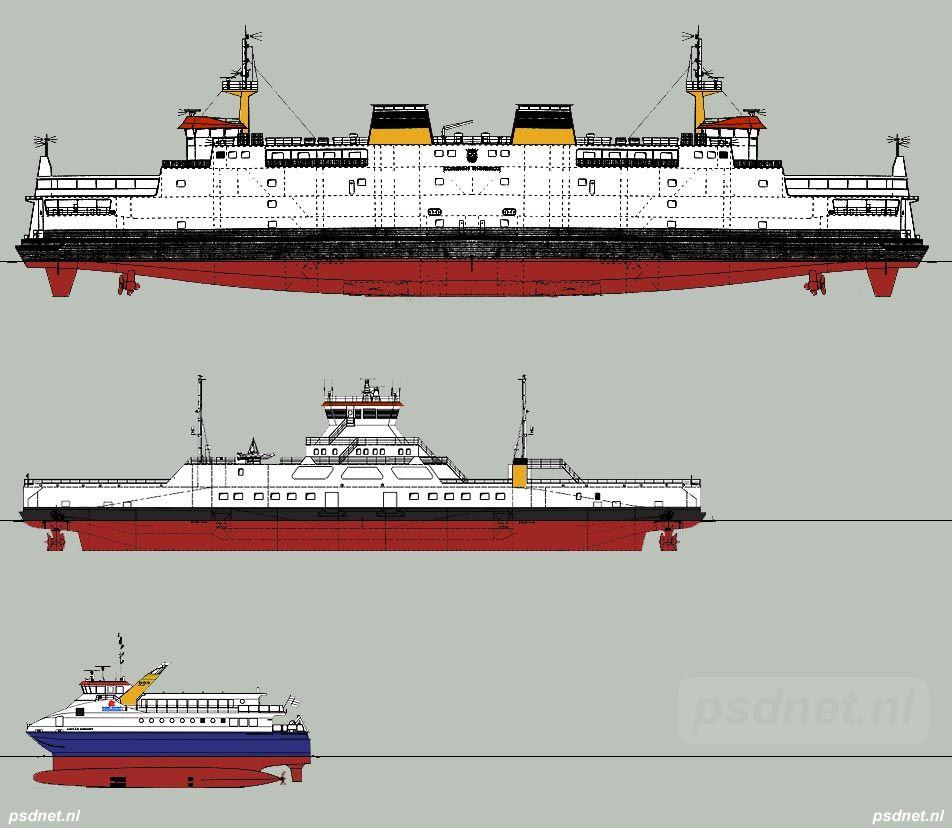 De Koningin Beatrix 1993 Eira 2002 En Een Swath Ferry 2004 Vergeleken Op Schaal Sebastiaan Keijmel Uit Breskens Pleit Voor Sch Sleepboten Schepen Schip