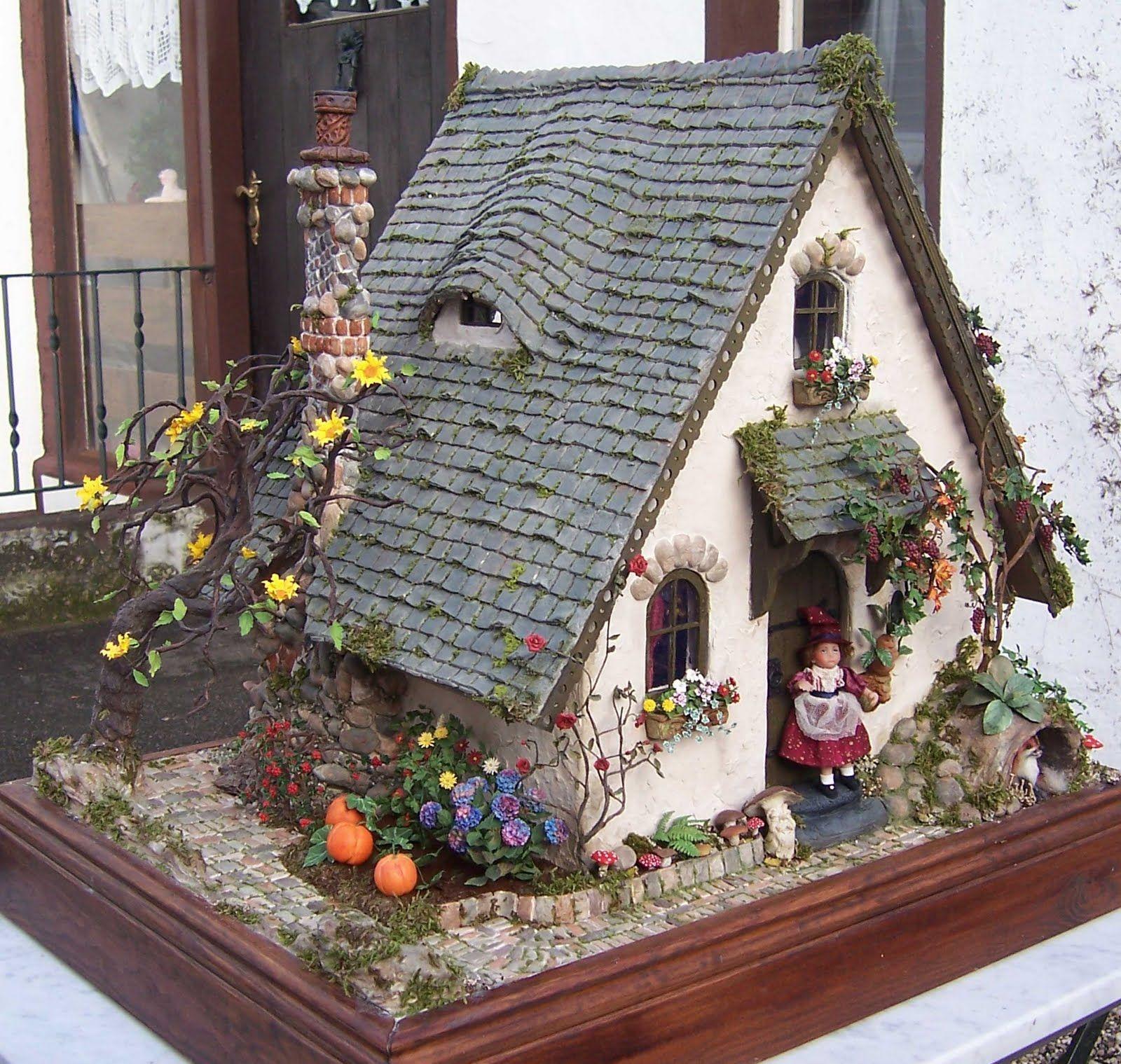 Karin Caspar   Idea for 3d   Pinterest   Fairy houses, Fairy and ...