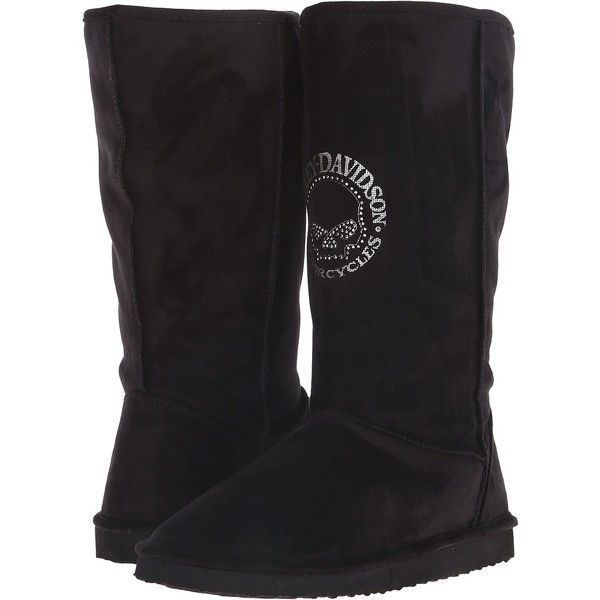6fe3b1cba82 Harley-Davidson Jaimie (Black) Women s Slippers ( 41) ❤ liked on Polyvore