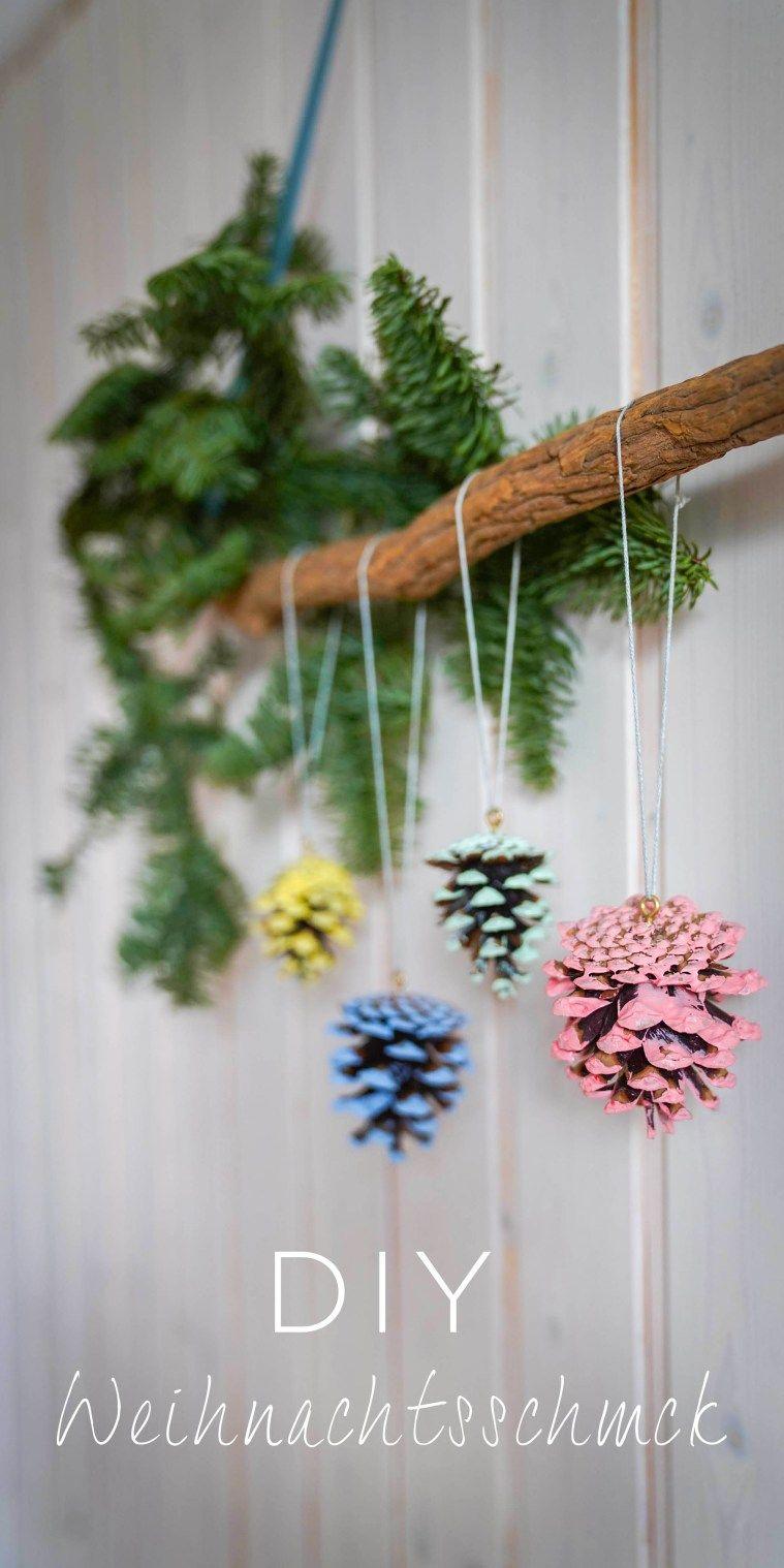 DIY Weihnachtsschmuck aus Tannenzapfen #christbaumschmuckbastelnkinder