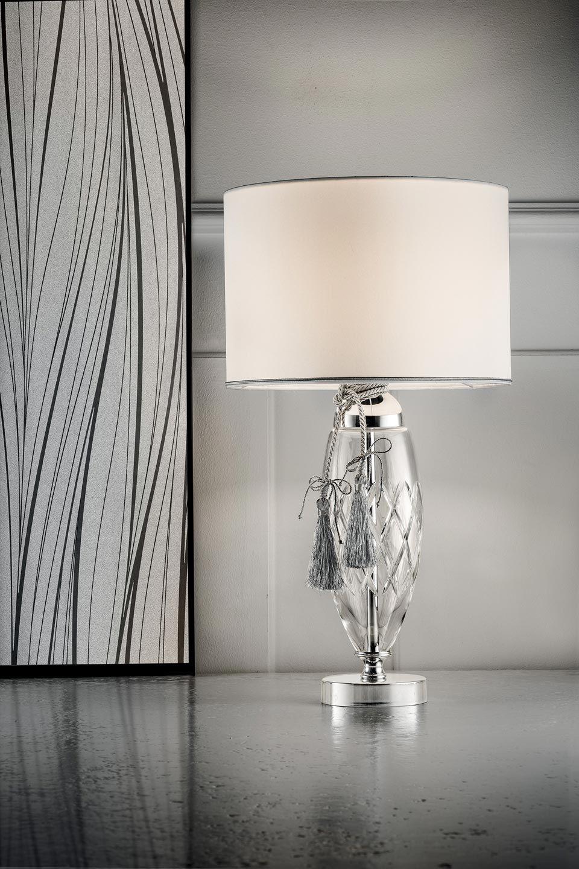 Lampe De Table Classique En Verre Et Satin Masiero Specialiste Du Lustre En Cristal Et De La Lampe En Verre De Murano Ref 20020141 En 2020 Lampes De Table