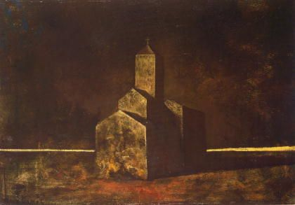 鴨居玲(Camoy Rey)「教会(Church)」(1971)