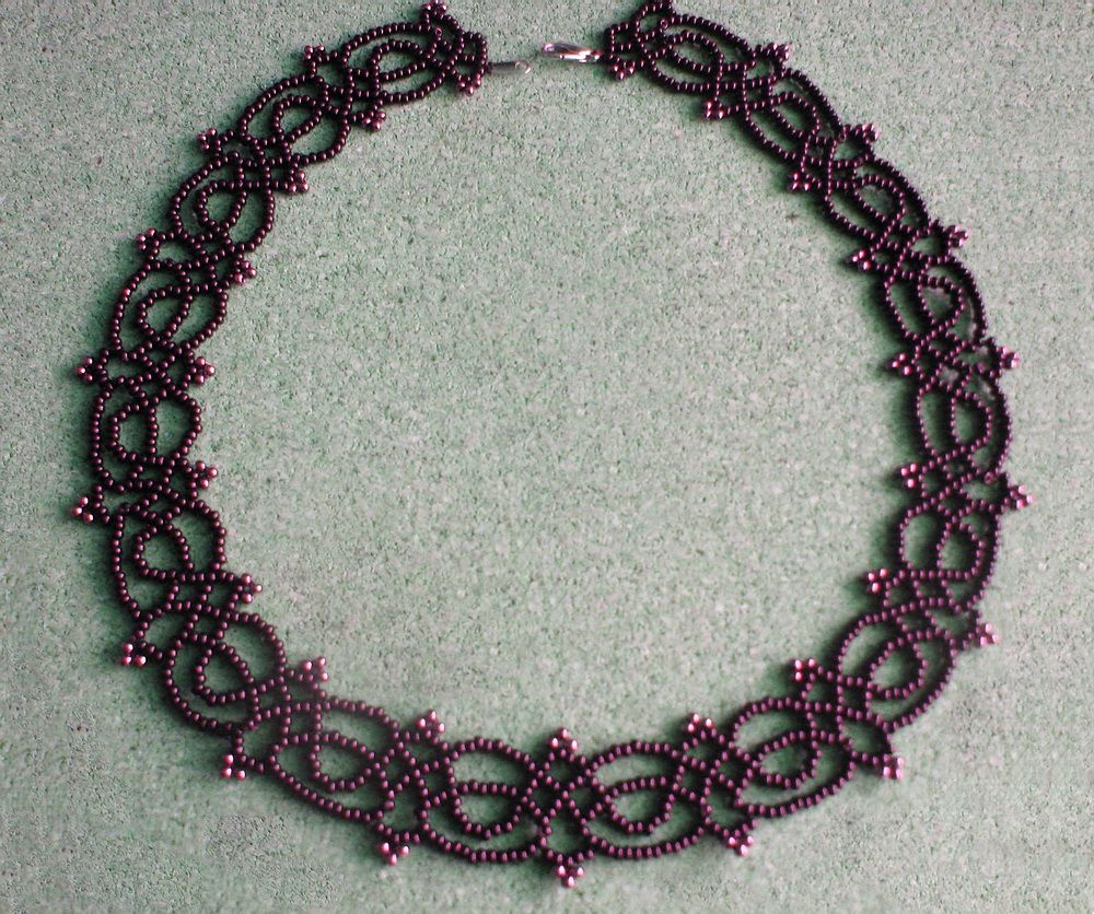 Free pattern for necklace Juliette