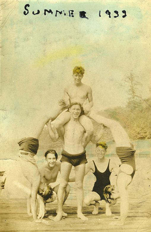 summer, 1933 - guys  We have family pictures of men in suits similar - don't men just look pathetic in these? LOL