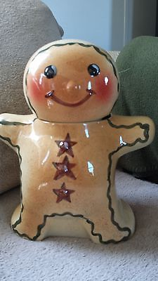 Cookie Jar Bg Hull Alpine Gingerbread Man Cookie Jar Snacks Sweets Container 11