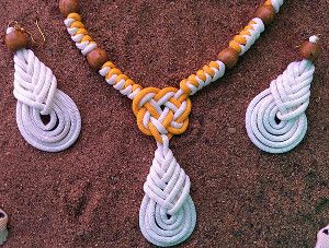 Bright White and Sunny Yellow Paracord Jewelry