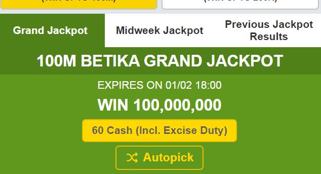 Betika Midweek Jackpot Results, Bonuses and Winners for Last Week | Jackpot Kenya