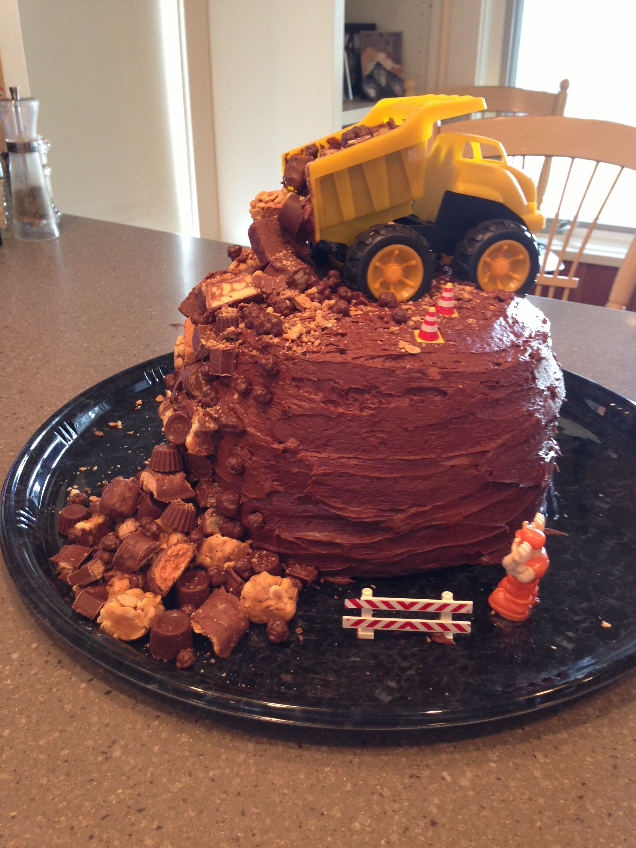 Dump truck birthday cake my little boy second bday will have to