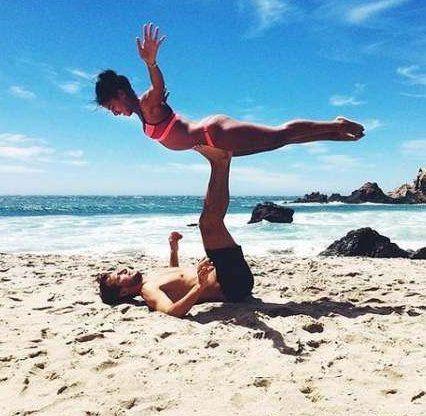 Ideas Fitness Photoshoot Couples Partner Yoga For Fitness & #fitness ideen fitness fotoshooting paar...