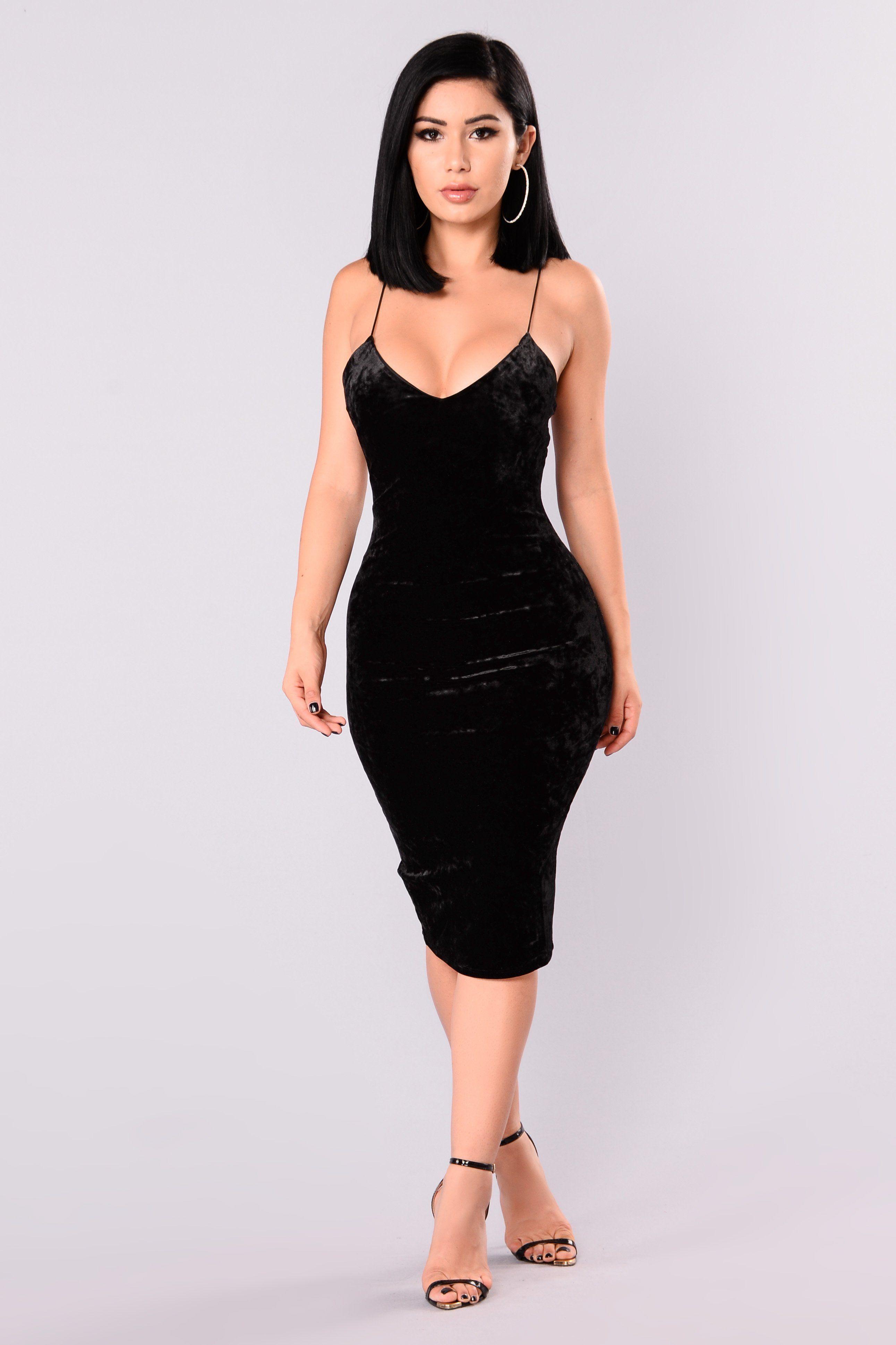 Denny velvet dress black products