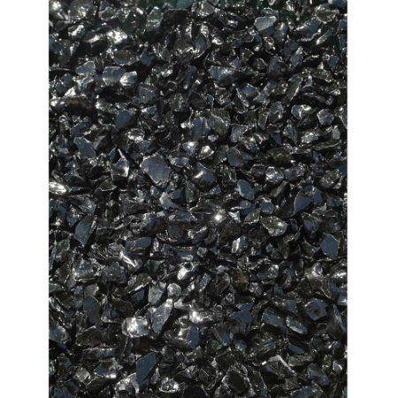 Patio Garden Black Glass Pebble Color Landscape Glass