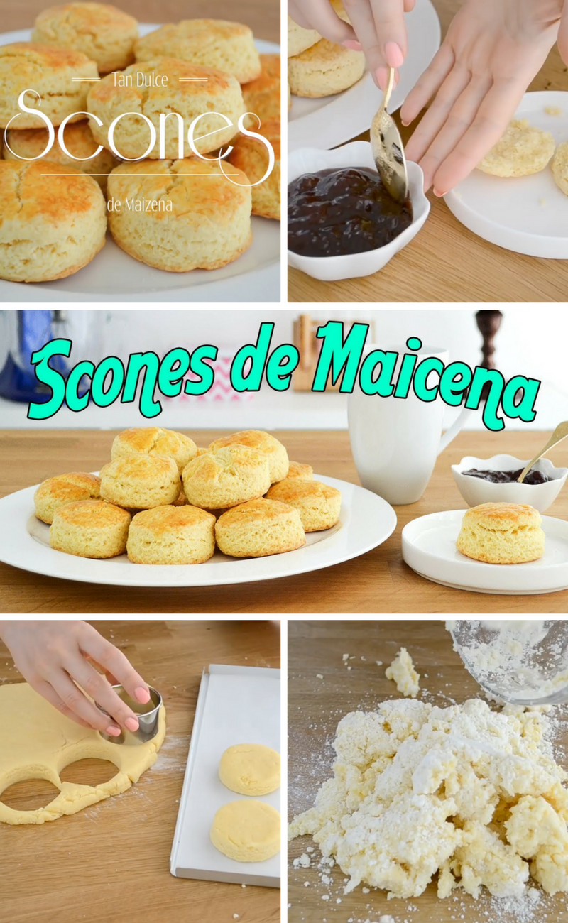 Como Hacer Scones De Maizena Recetas De Dulces Faciles Postre Con Pocos Ingredientes Scones Recetas