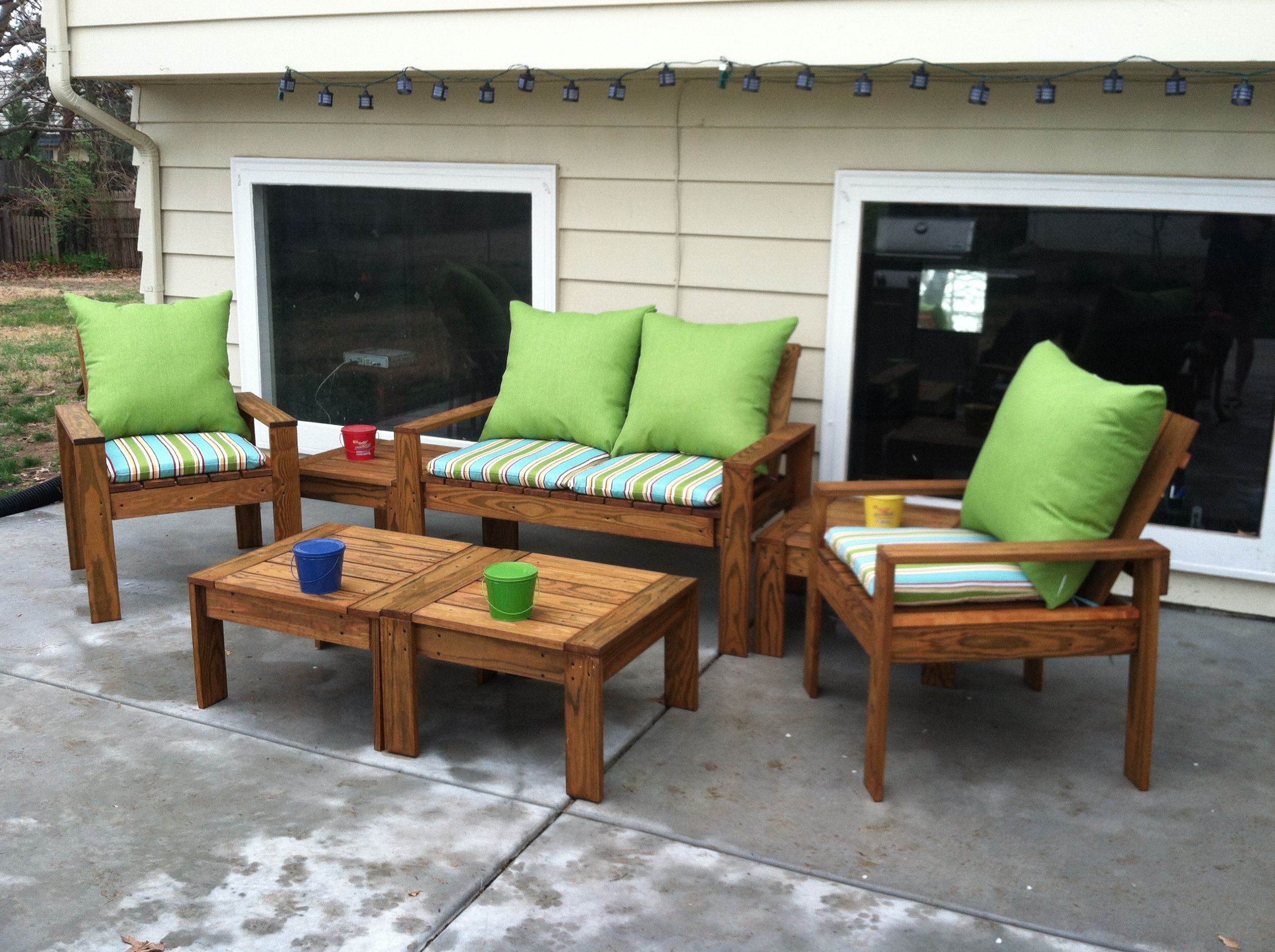 Simple Outdoor Conversation Set Do It Yourself Home