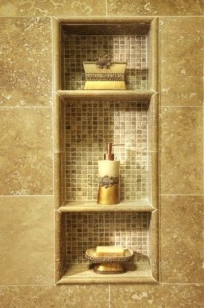 Cubby Tile For The Shower Stall Traditional Bathroom Shower