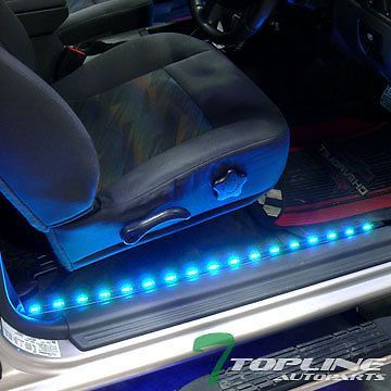 "Automotive Led Light Strips Entrancing 2X 36"" 2X 48"" 7 Color Interior Car Kit Led Lights Strip Music System Inspiration"