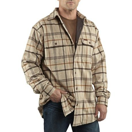 carhartt youngstown flannel shirt jacket  thermal lined