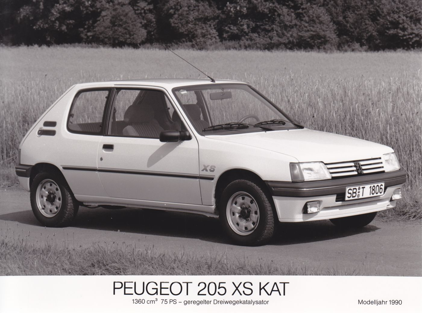 peugeot 205 xs kat 1990 car factory press photos pinterest peugeot and cars. Black Bedroom Furniture Sets. Home Design Ideas