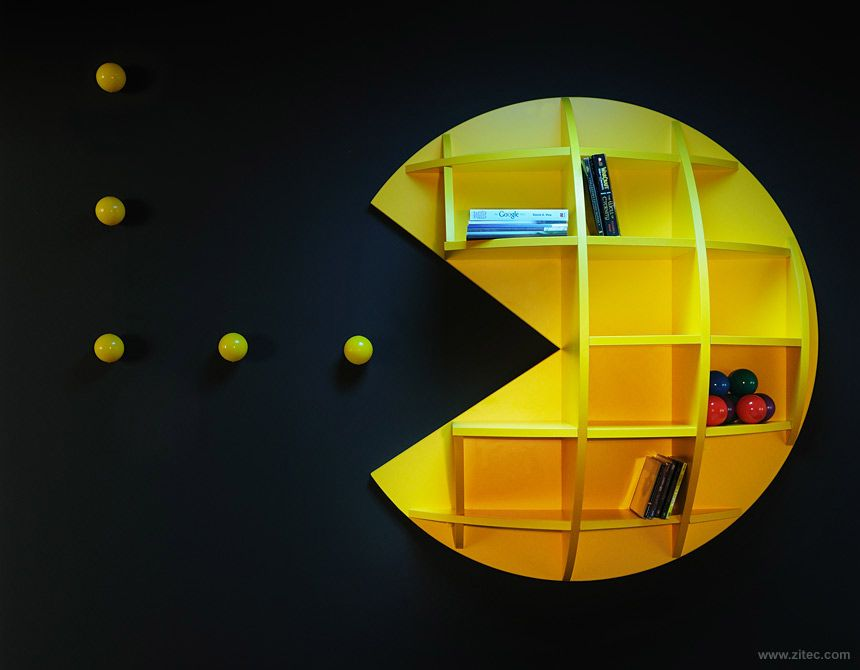 Kids video game themed rooms pac man themed rooms and - Kids game room ideas ...