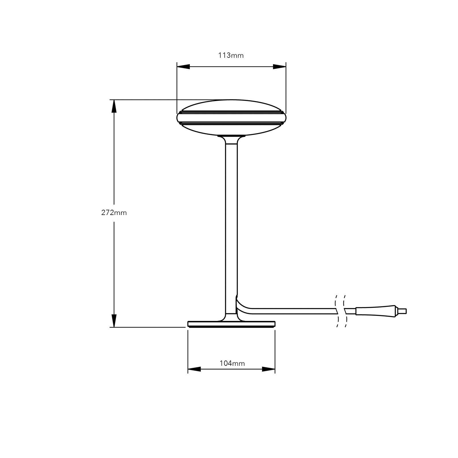 Moderne Smart Home Tischleuchten ØS1 von SHADE LIGHTS Weiß