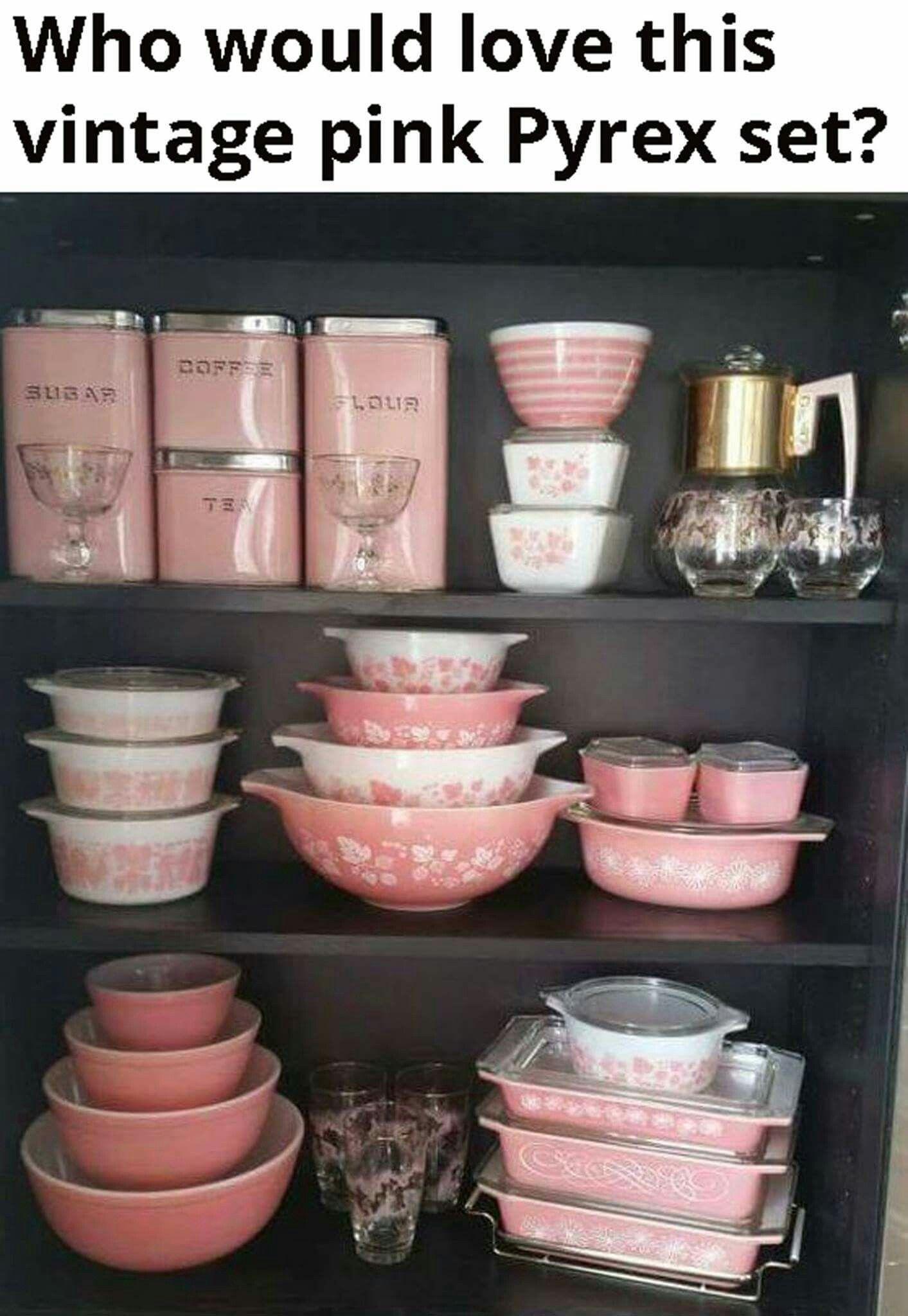 But Blue Pink Kitchen Decor Antique Retro Ware
