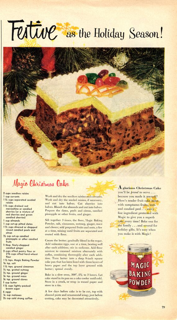 Xmas Christmas Cake In 2020 Vintage Recipes Christmas Baking