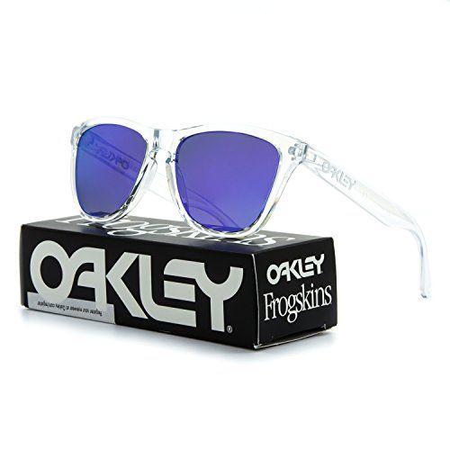 3fdf1d1d90 Oakley Frogskins Sunglasses OO9013 24-305 Polished Clear   Violet Iridium  Lens…