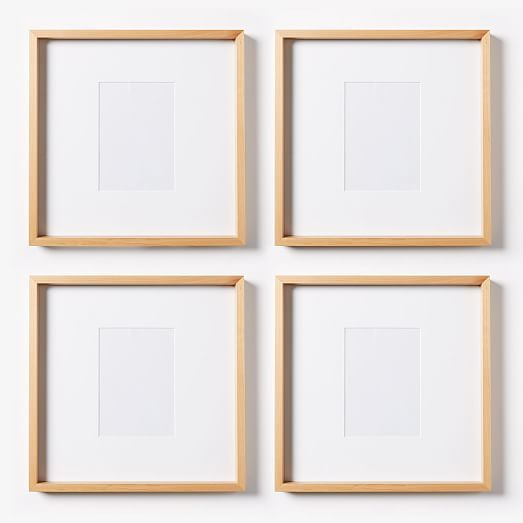 Thin Wood Gallery Frames Bamboo Westelm Wood Gallery Frames Gallery Frame Set Gallery Frames