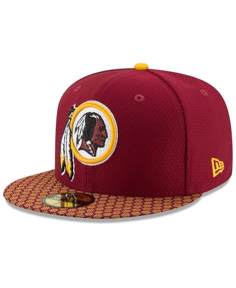 official photos cd6a2 7b1f8 New Era Washington Redskins 59Fifty Sideline Fitted Hat Burgundy Size 7 1 2   NewEra  WashingtonRedskins