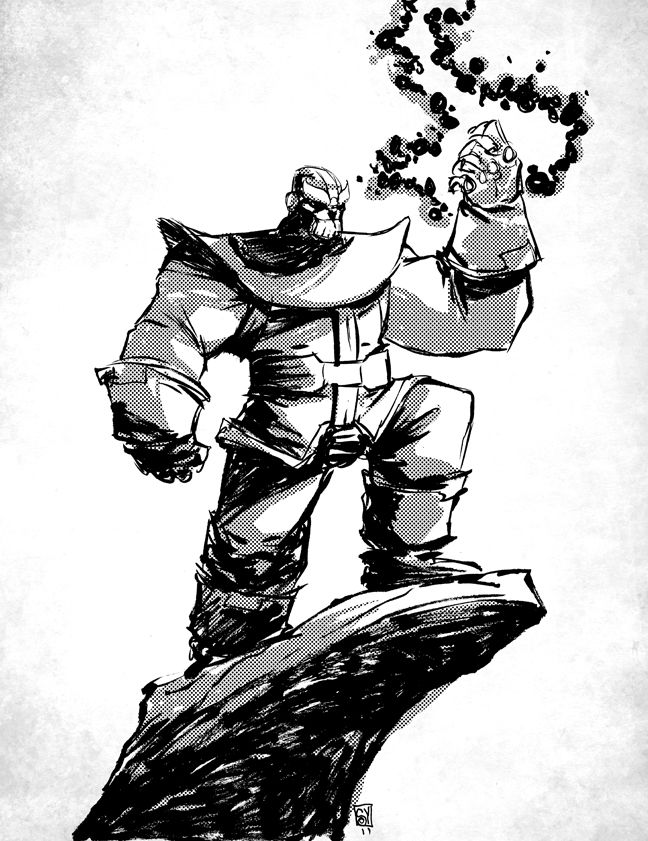 Thanos by Skottie Young | Thanos | Skottie Young, Young ...