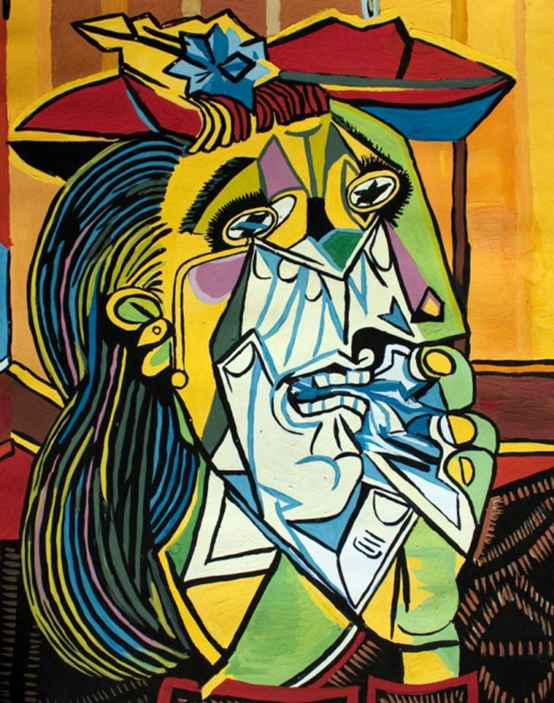 Weeping Woman By Pablo Picasso Pablo Picasso Art Famous Art Paintings Pablo Picasso Paintings