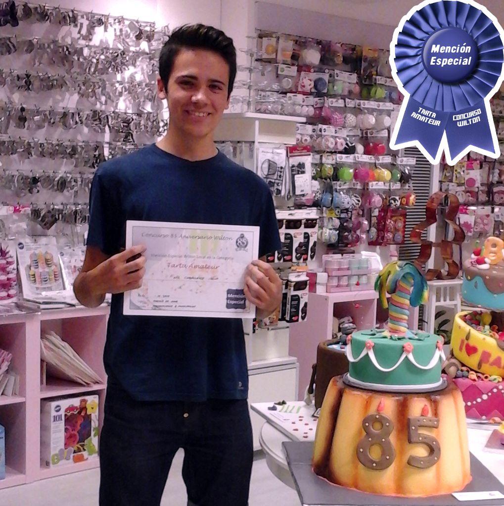 Mención Especial Tarta Amateur. Final Local Concurso 85 Aniversario Wilton. MamaMuffins Shop.