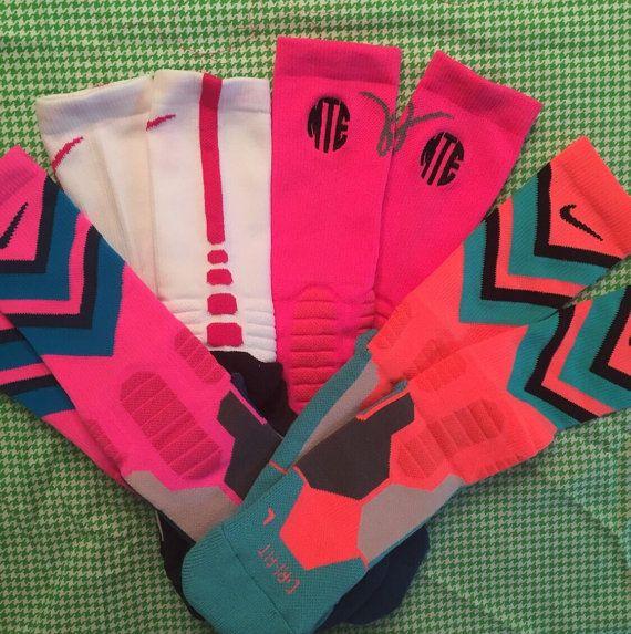 Monogrammed Nike Hyper Elite Socks by Bouffants on Etsy