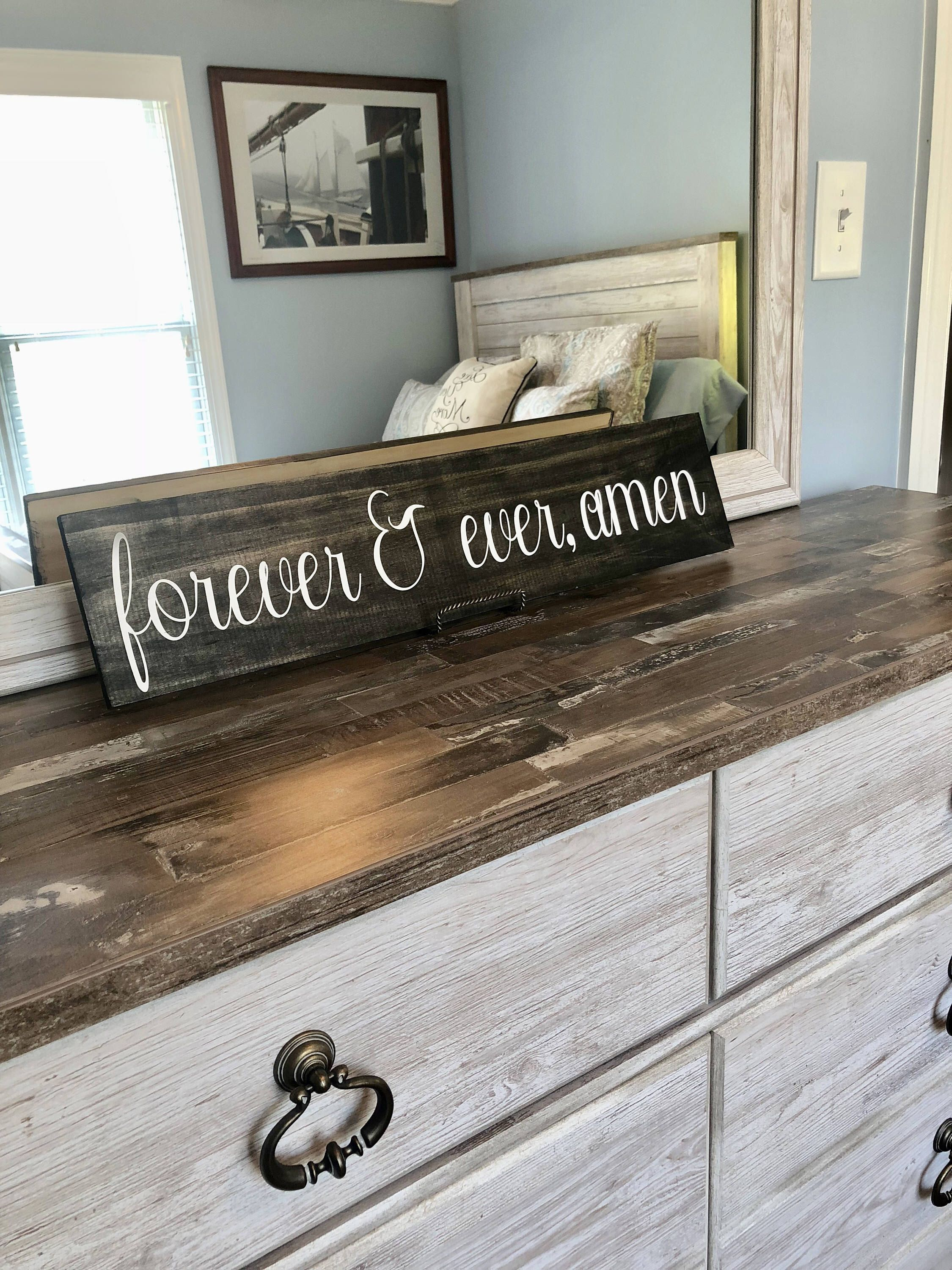 Diy home decor wood  Forever and Ever Amen  Rustic Wood Sign  Home Decor  Wedding Gift