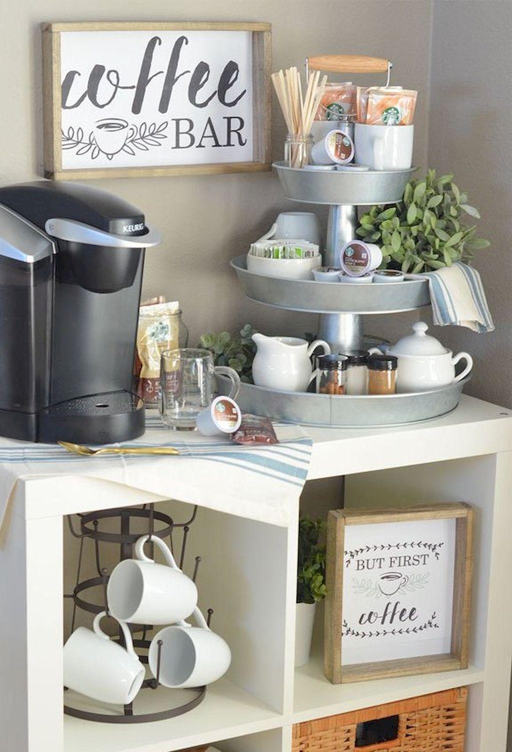 Diy Small Apartment Decorating Ideas 38 Coffee Bar Home Cheap