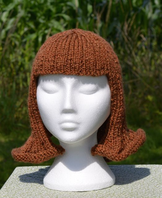 Fun Knitted Hat Wig Or Chemo Cap Etsy Knitted Hats Halloween Hats Chemo Caps
