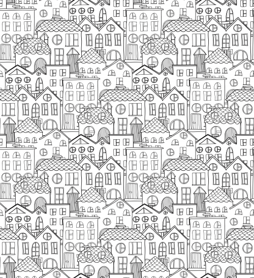Old City Coloring Page City Printing and Adult coloring