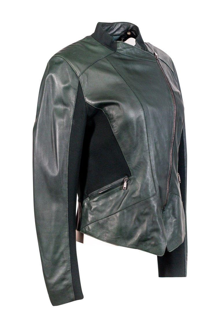 Elie Tahari Green Lamb Leather Jacket Sz M Ad Aff Green Tahari Elie Lamb Sz Lamb Leather Jacket Leather Jacket Leather [ 1124 x 750 Pixel ]