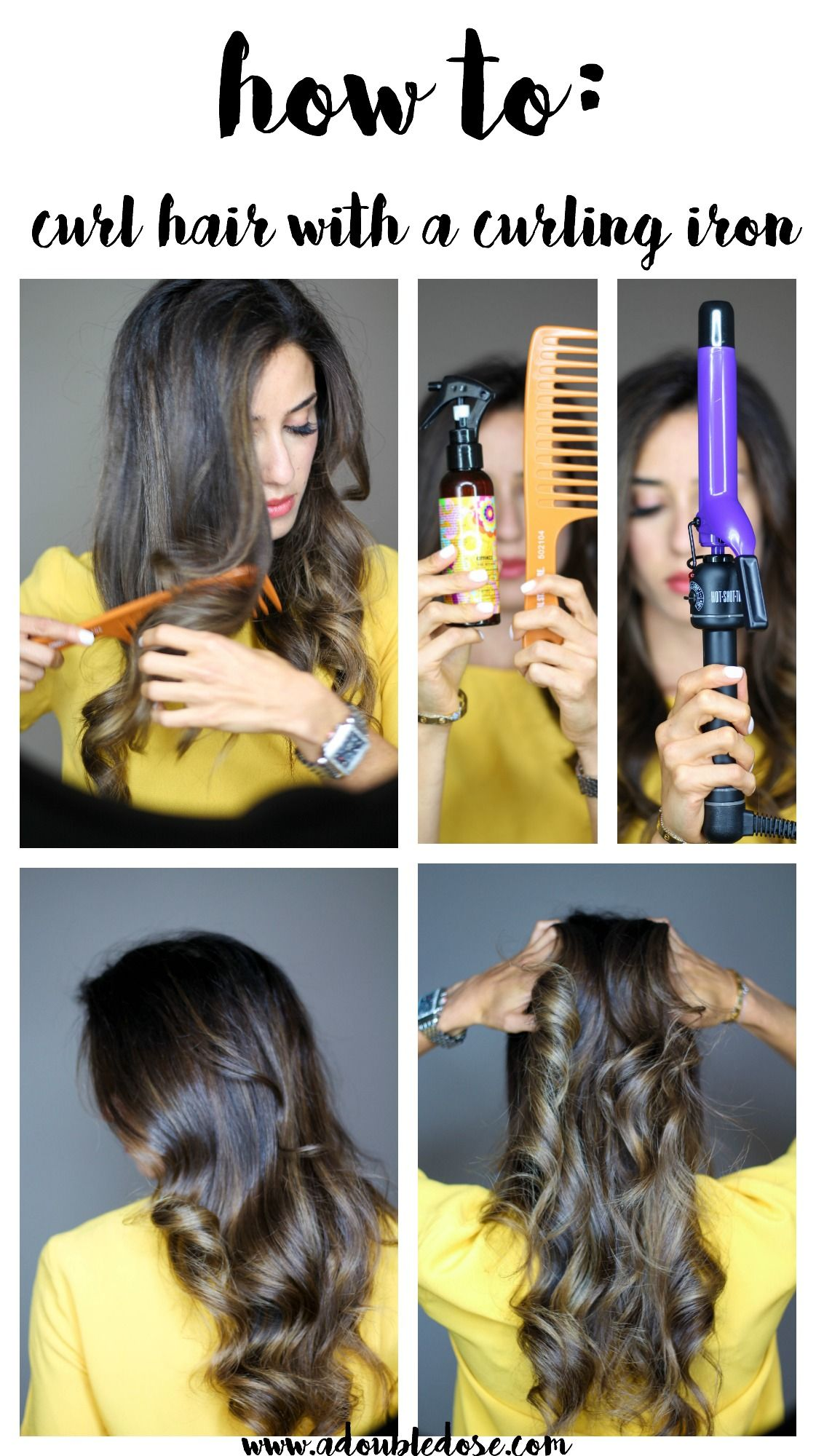 How to curl hair with a curling iron curls for long hair