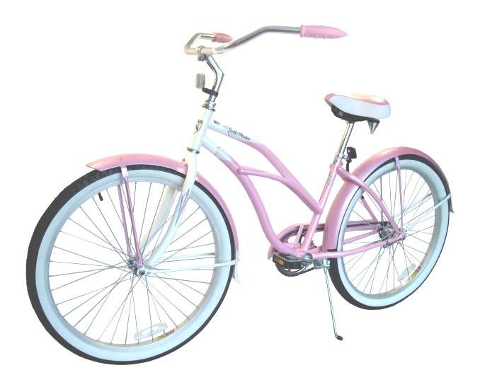 Husky Santa Monica 24 Beach Cruiser Lady Pink Pearl White Beach