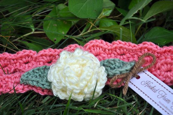 Newborn Crochet Headband Baby Girl Headband by HookedByNurseSharon, $10.00