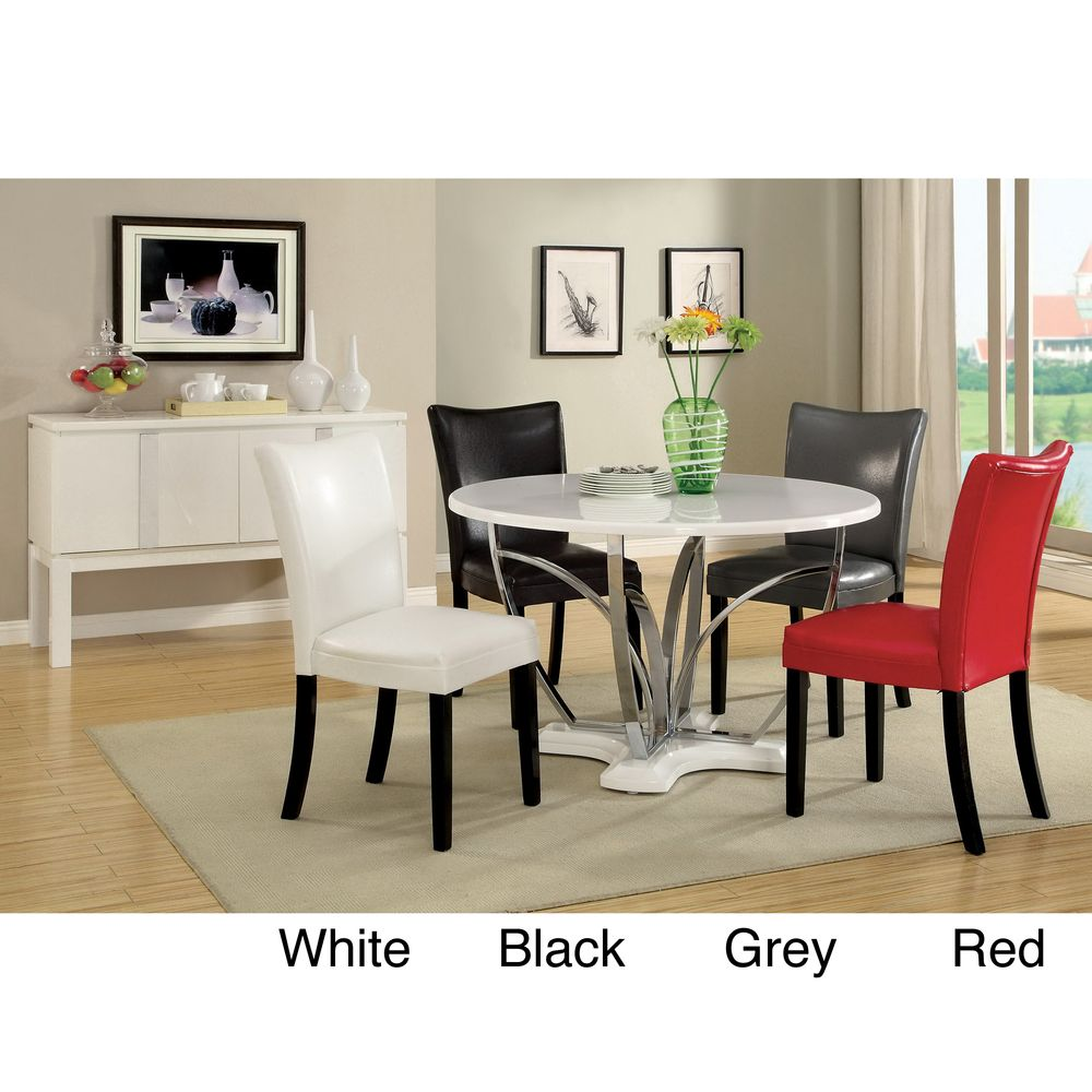 Furniture of America Relliza Contemporary High Gloss Lacquer 5-piece Dining Set   Overstock.com Shopping - Big Discounts on Furniture of Ame...