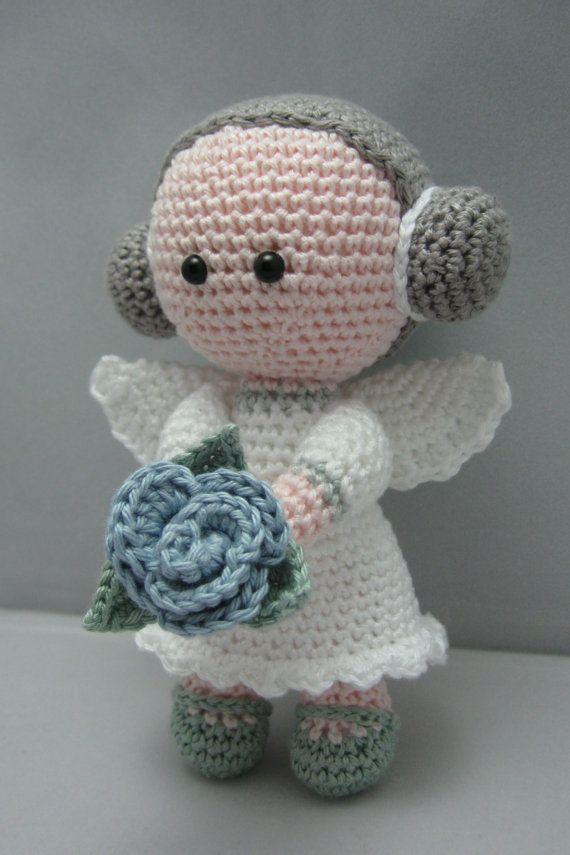 selber machen flower angel instant download amigurumi doll crochet pattern pdf - Ngel Muster Selber Machen