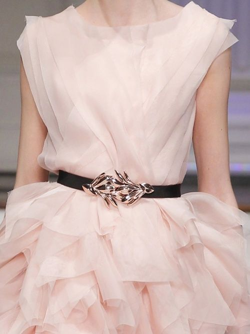 lamb & blonde.blog...Pale Pink Ruffled Gown <3